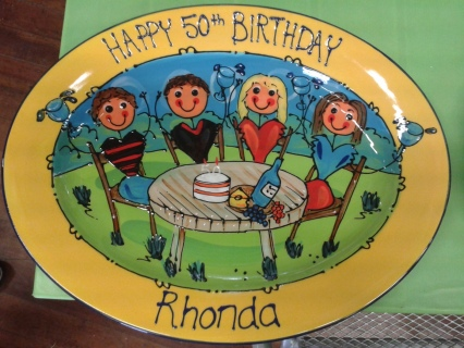 Birthday Oval Platter
